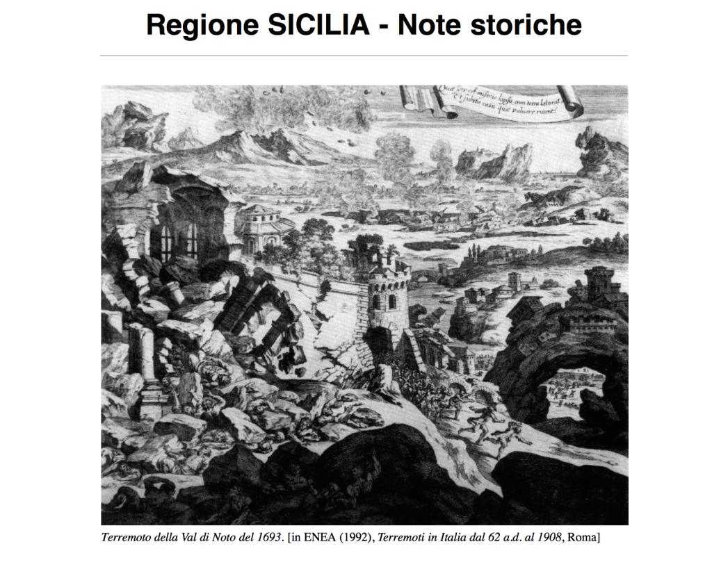 East sicily accadde oggi l 39 11 gennaio 1693 la sicilia - Immagini del cardellino orientale ...
